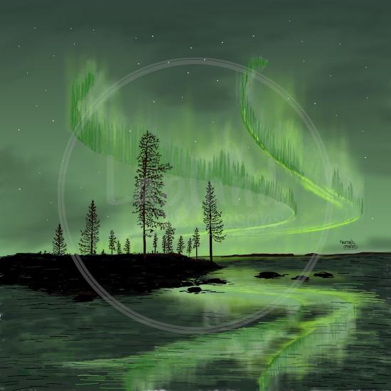 FirstSnow-GreenReflection-Lapland8Seasons