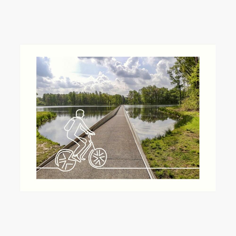 Fietsen-door-het-water-limburg-lijntekening-design-aurealisCreatief