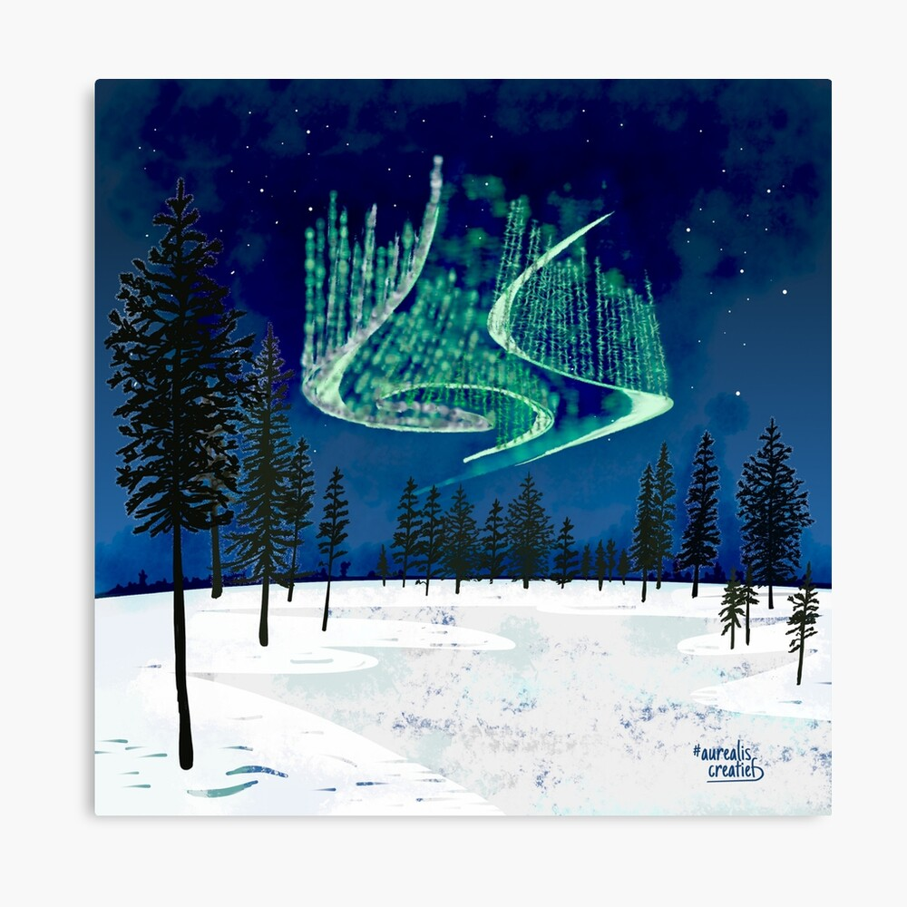 NorthernLights-Lapland-Illustrator Aurealis Creatief