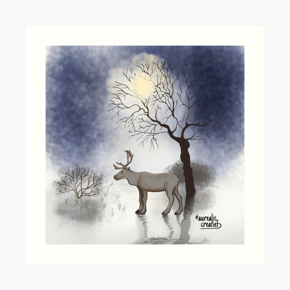 Rendier-in-het-maanlicht-illustrator Aurealis Creatief