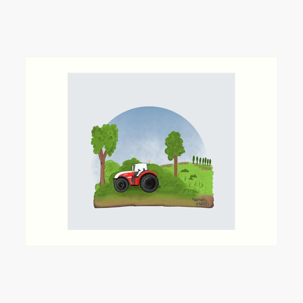Tractor voor kinderen - illustratie Aurealis Creatief
