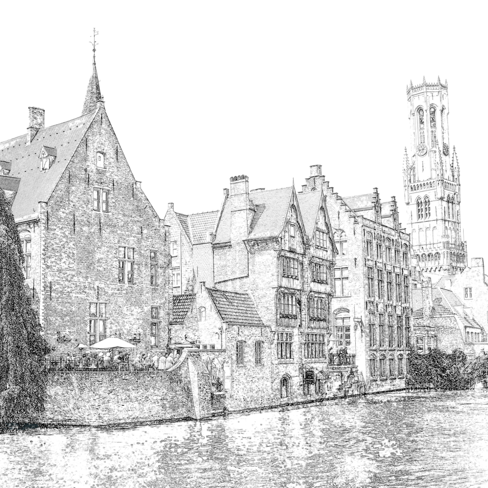 Bruges-digitalPendrawing-AurealisCreatief