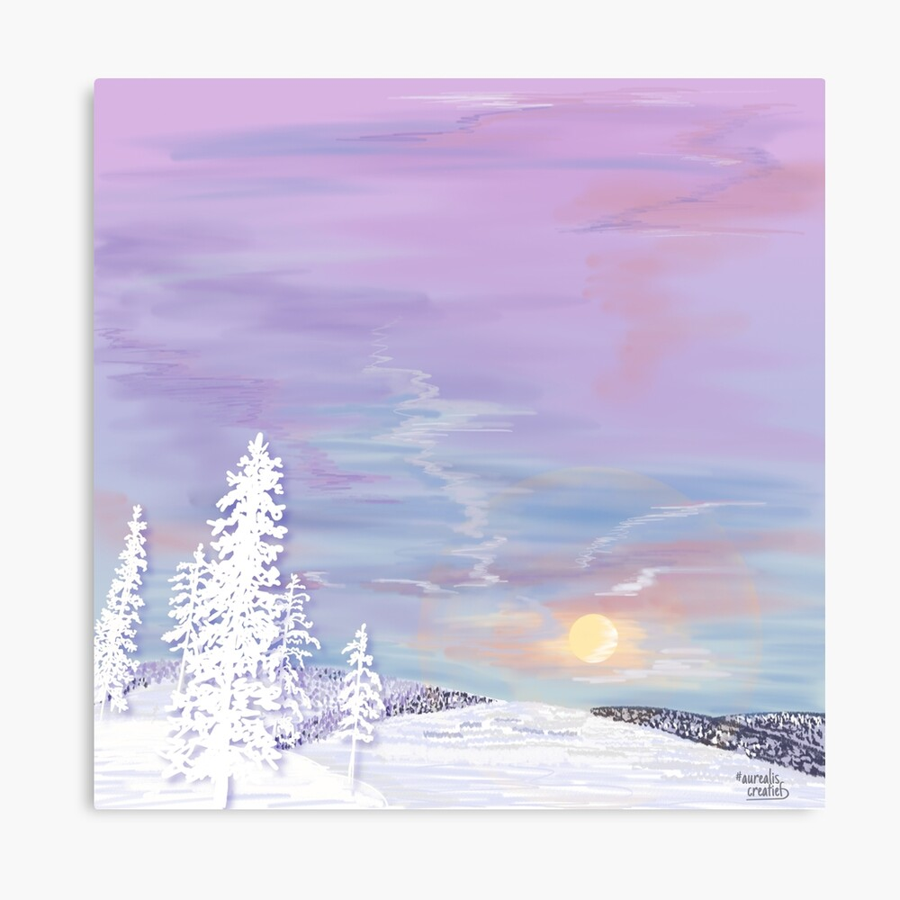 PolarNight in Lapland - grafische illustratie
