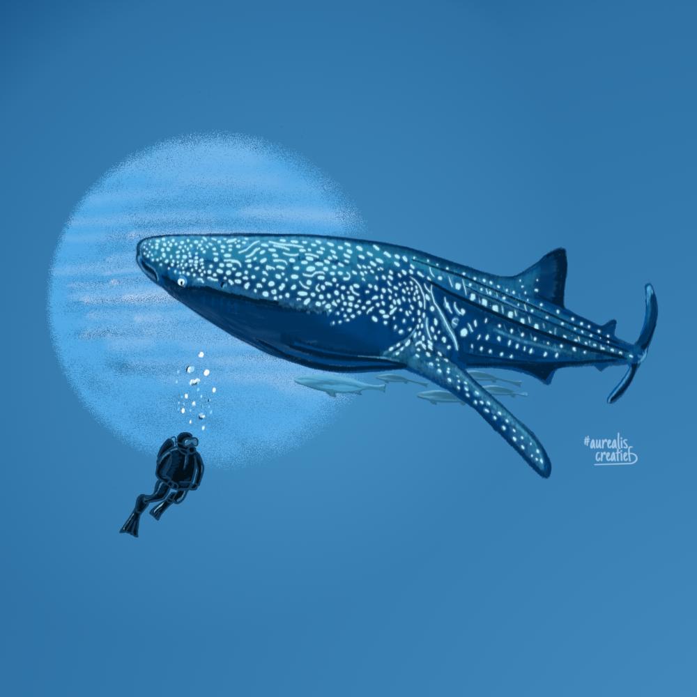 ScubaDiving-artwork-digitale-illustratie