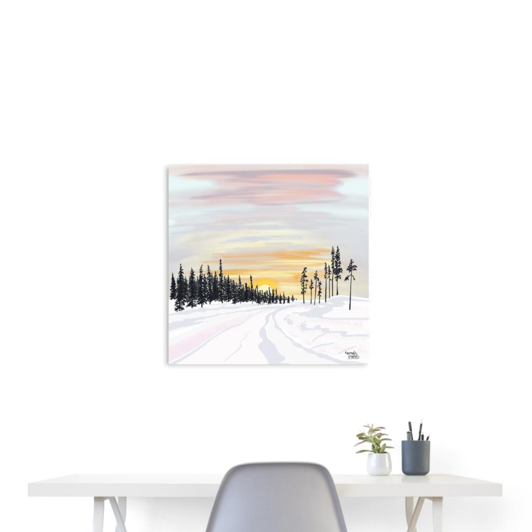 Poster-interieurDesign-Lapland-sunset-Aurealis