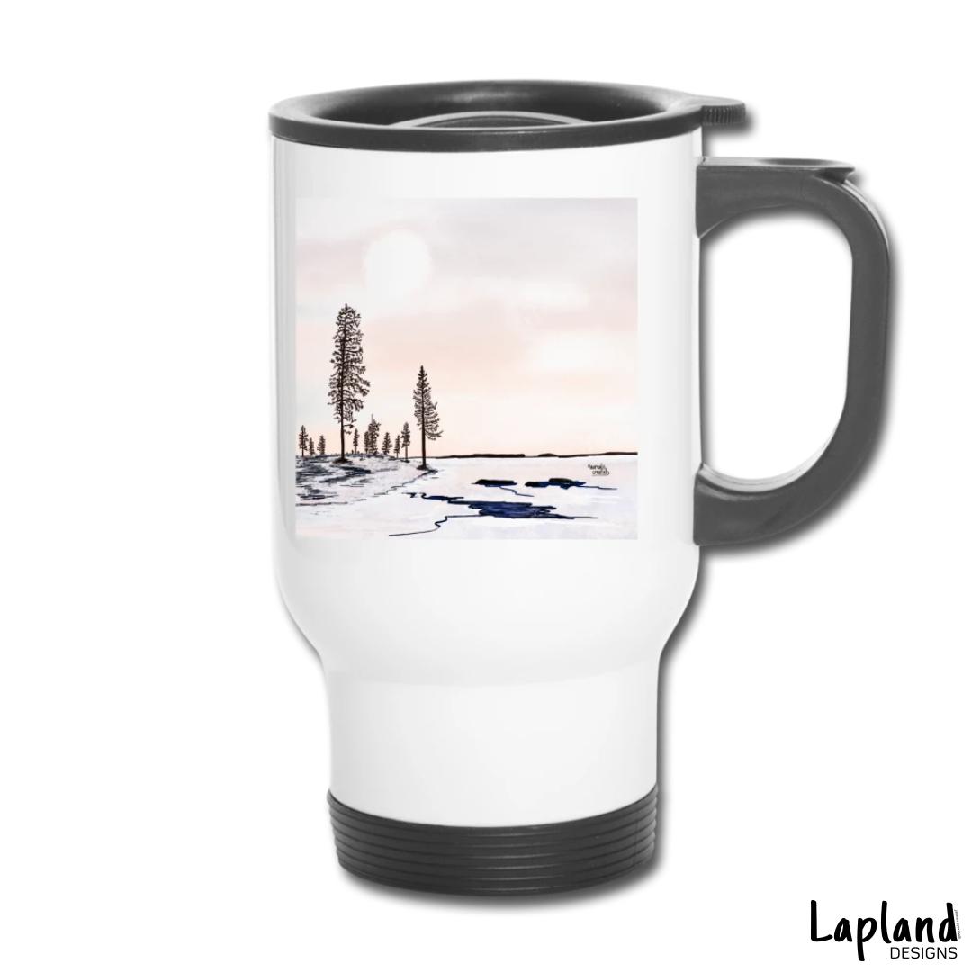 DepartureOfIce-FloatingIce-Lapland-Illustrator Aurealis Creatief